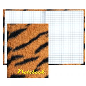 """Блокнот Notebook STAFF, А6, 110*147мм, """"Тигровый"""", тв. лам. обложка, 80л., 120949"""