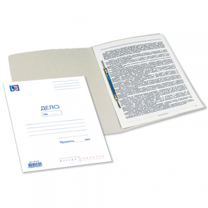 Скоросшиватель карт. мел. BRAUBERG, гарант. пл. 320г/кв.м., белый (на200л.)