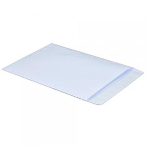 Конверт-пакет плоский COMPETITOR (250х353мм) белый с отрывной полосой, на 140 листов, Pigna