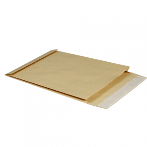 Конверт-пакет объемный (229х324х40мм)  из крафт бумаги с отр.полосой, на 250 листов