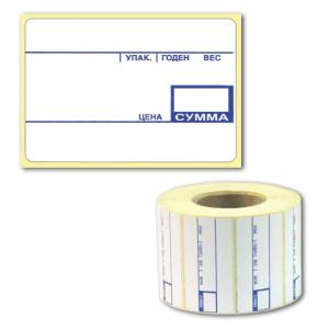 Этикетка ТермоЭко, для термопринтера и весов 58*40*700шт (ролик), с препринтом, светостойкость до 2мес.