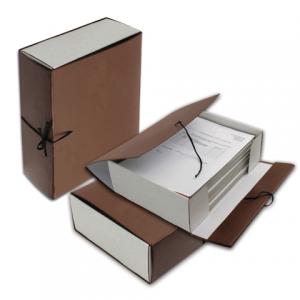 Короб архивный, бумвинил, 15 см (на 1400л.), цвет ассорти, h-150