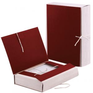 Папка д/бумаг архивная 80 мм, бумвинил, корешок — коленкор, 4 х/б завязки, 123200