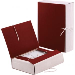 Папка д/бумаг архивная 120 мм, бумвинил, корешок — коленкор, 4 х/б завязки, 123201