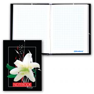"""Блокнот Notebook BRAUBERG, А6, 110*147мм, выбор. лак, """"Лилия"""", тв. лам. обложка, 80л., 123241"""