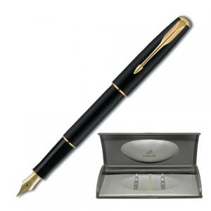 Ручка перьевая PARKER Sonnet Matte Black GT корпус черный, позолоченные детали