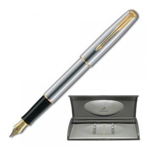 Ручка перьевая PARKER Sonnet Stainless Steel GT корпус нерж. сталь, позолоченные детали