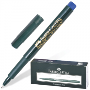 Ручка капиллярная FABER-CASTELL FINEPEN 1511, толщ. письма 0,4мм, арт. FC151151, синяя