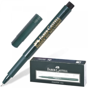 Ручка капиллярная FABER-CASTELL FINEPEN 1511, толщ. письма 0,4мм, арт. FC151199, черная