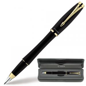 Ручка перьевая PARKER Urban Muted Black GT корпус черный, позолоченные детали