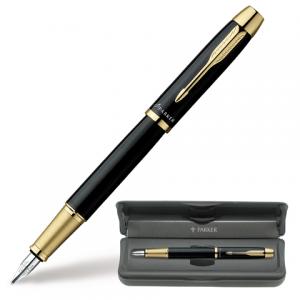 Ручка перьевая PARKER IM Black GT корпус черный, позолоченные детали