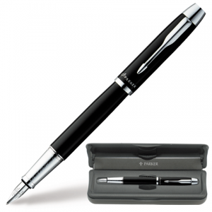 Ручка перьевая PARKER IM Black CT корпус черный, хромированные детали