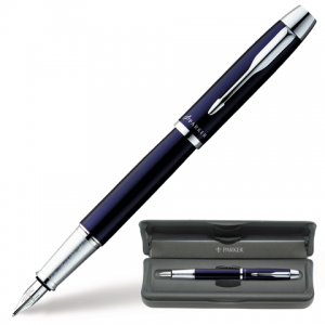 Ручка перьевая PARKER IM Blue CT корпус синий, хромированные детали