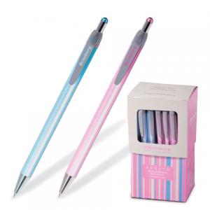 "Ручка шариковая BRAUBERG автомат. ""Sakura"", корп. ассорти, толщина письма 0,5мм, 141287, синяя"