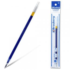 Стержень гелевый BRAUBERG 130мм, евронаконечник, 0,5мм, 170166, синий