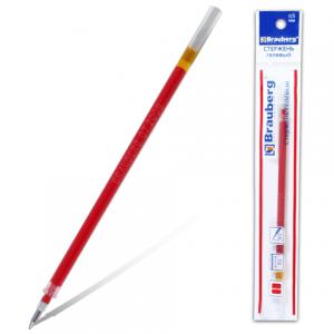 Стержень гелевый BRAUBERG 130мм, евронаконечник, 0,5мм, 170168, красный