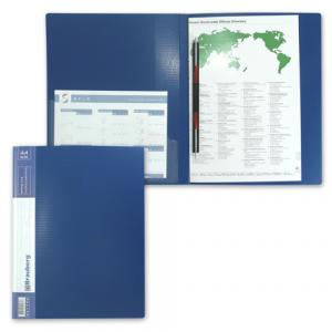 """Папка с мет. скоросш. и внутр. карм. BRAUBERG """"Contract"""" синяя, до 100 листов, 0,7мм, бизнес-класс"""