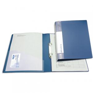 """Папка 2 кольца BRAUBERG """"Contract"""", 35мм, синяя, до 180 листов, 0,9мм"""