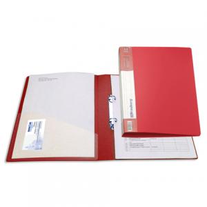 """Папка 2 кольца BRAUBERG """"Contract"""", 35мм, красная, до 180 листов, 0,9мм"""