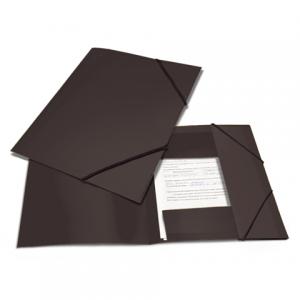 """Папка на резинках BRAUBERG """"Contract"""" черная, до 300 листов, 0,5мм, бизнес-класс"""