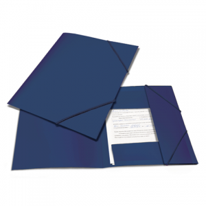 "Папка на резинках BRAUBERG ""Contract"" синяя, до 300 листов, 0,5мм, бизнес-класс"
