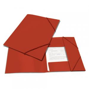 "Папка на резинках BRAUBERG ""Contract"" красная, до 300 листов, 0,5мм, бизнес-класс"