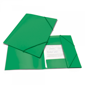"Папка на резинках BRAUBERG ""Contract"" зеленая, до 300 листов, 0,5мм, бизнес-класс"