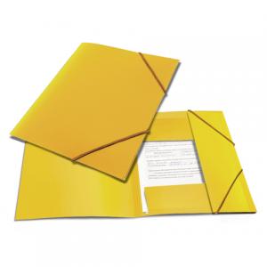 "Папка на резинках BRAUBERG ""Contract"" желтая, до 300 листов, 0,5мм, бизнес-класс"