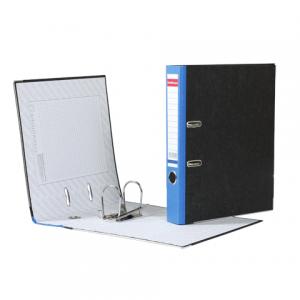 """Папка-регистратор ERICH KRAUSE, с мраморным покрытием, """"содержание"""", 50мм, синий корешок, 414"""