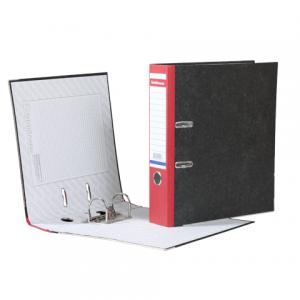 """Папка-регистратор ERICH KRAUSE, с мраморным покрытием, """"содержание"""", 70мм, красный корешок, 410"""