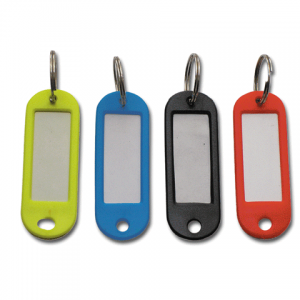 Брелоки для ключей STAFF (12 шт.), длина 60мм, инфо-окно 35*15мм, арт. 231029