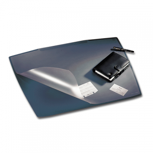 Коврик-подкладка настольный для письма DURABLE (Германия) c прозр. листом, 68х53см, черный, 7201-01