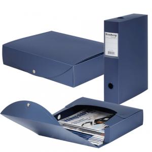 "Короб архивный BRAUBERG ""Energy"", пластик, 7 см (на 600л.), разборный, синий, 231539"