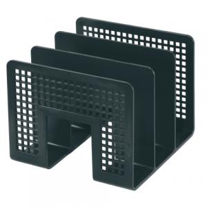 Подставка для бумаг ERICH KRAUSE 3-секционная, черная, 8070