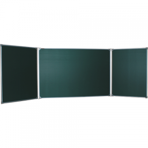 Доска для мела, магнитная BOARDSYS 100*150/300см, 3-х элементная, 5 рабочих поверхн., зелен. ТЭ-300М