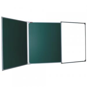 Доска для мела, магнитно-маркерная BOARDSYS 100*150/300см, 3-х элем,3поверх/мел+2поверх/марк,ТЭ-300К