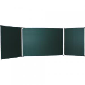 Доска для мела, магнитная BOARDSYS 100*170/340см, 3-х элементная, 5 рабочих поверхн., зелен, ТЭ-340М