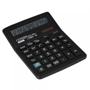 Калькулятор CITIZEN настольный SDC-395, 16 разр., двойное питание, 190х136мм,оригинальный