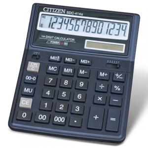 Калькулятор CITIZEN настольный SDC-414, 14 разр., двойное питание, 220х160мм, оригинальный