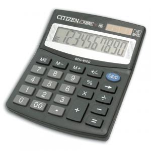 Калькулятор CITIZEN настольный SDC-810, 10 разр., двойное питание, 125x100, оригинальный