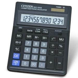 Калькулятор CITIZEN настольный SDC-554, 14 разр., двойное питание, 199x153мм, оригинальный