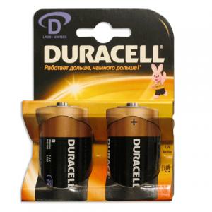 Батарейка DURACELL D LR20, комплект 2шт., в блистере, 1.5В, (работает до 10 раз дольше)