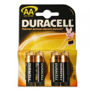 Батарейка DURACELL AA LR6, комплект 4шт., в блистере, 1.5В, (работает до 10 раз дольше)