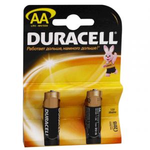 Батарейка DURACELL AA LR6, комплект 2шт., в блистере, 1.5В, (работает до 10 раз дольше)
