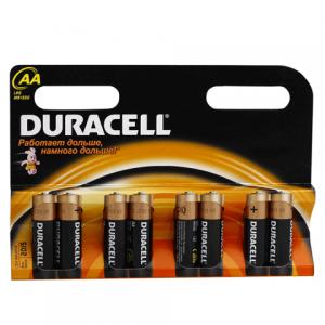 Батарейка DURACELL AA LR6, комплект 8шт., в блистере, 1.5В, (работает до 10 раз дольше)