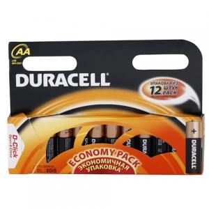 Батарейка DURACELL AA LR6, комплект 12шт., в блистере, 1.5В, (работает до 10 раз дольше)