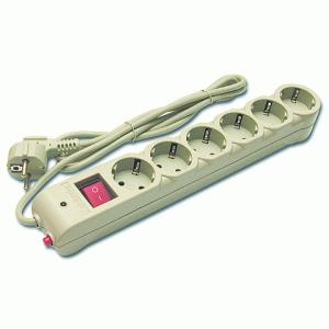 Сетевой фильтр DEFENDER DFS603, 6 розеток, 3 м, белый