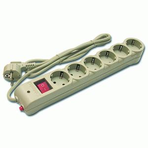 Сетевой фильтр DEFENDER DFS605, 6 розеток, 5,0 метров