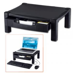 Подставка для принтера или монитора BRAUBERG, с 1 полкой и 1 ящиком, 430х340х164 мм, 510189