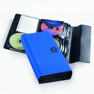 "Папка для CD/DVD DURABLE (Германия) на 64 диска ""MOBIL"" ПВХ-обложка, на липучке, синяя, 5220-06"